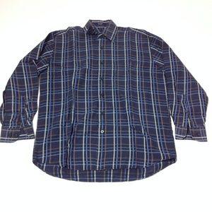 Alan Flusser Men's Button Down Shirt 100% Cotton